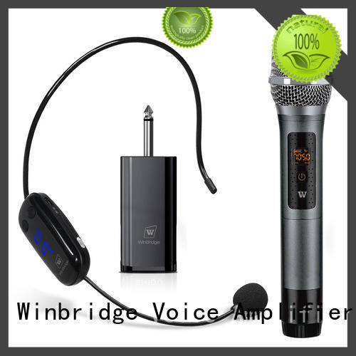 Winbridge wireless microphone headset with receiver microphone system for sale