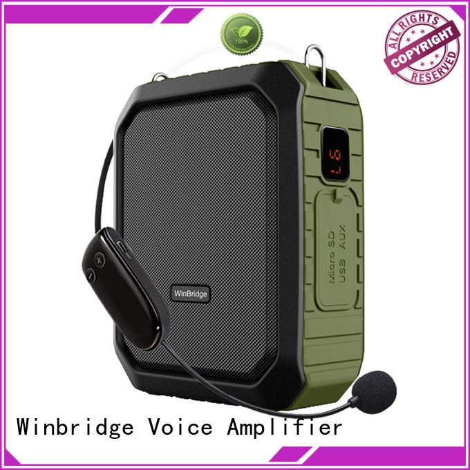 teacher voice amplifier portable microphone speaker winbridge wireless Winbridge Brand voice enhancer