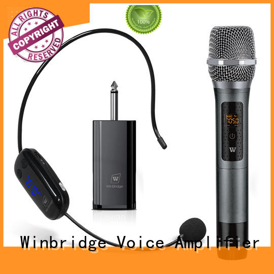 Winbridge hot sale wireless microphone headset for singing supplier for sale