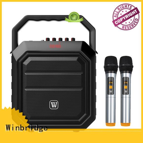 multifunction portable ergonomic karaoke speaker Winbridge