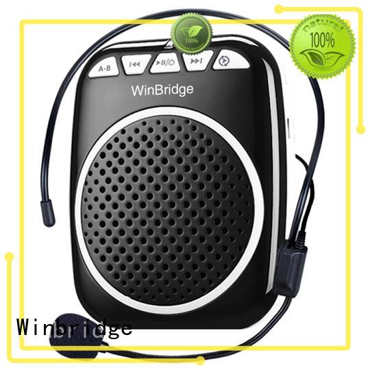 Winbridge Brand wired bluetooth teacher voice amplifier portable microphone speaker headset