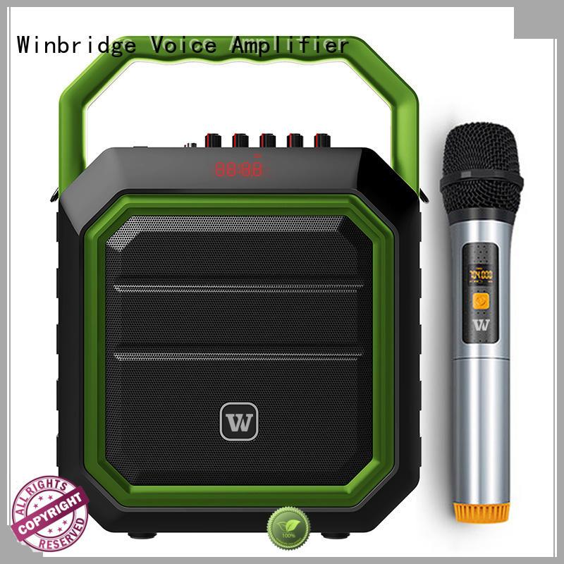 Winbridge loudspeaker portable karaoke speaker with dual microphone for party