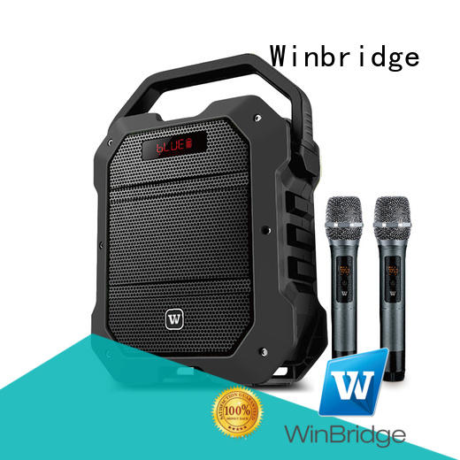 uhf wireless karaoke speaker with fm wireless microphone for dance