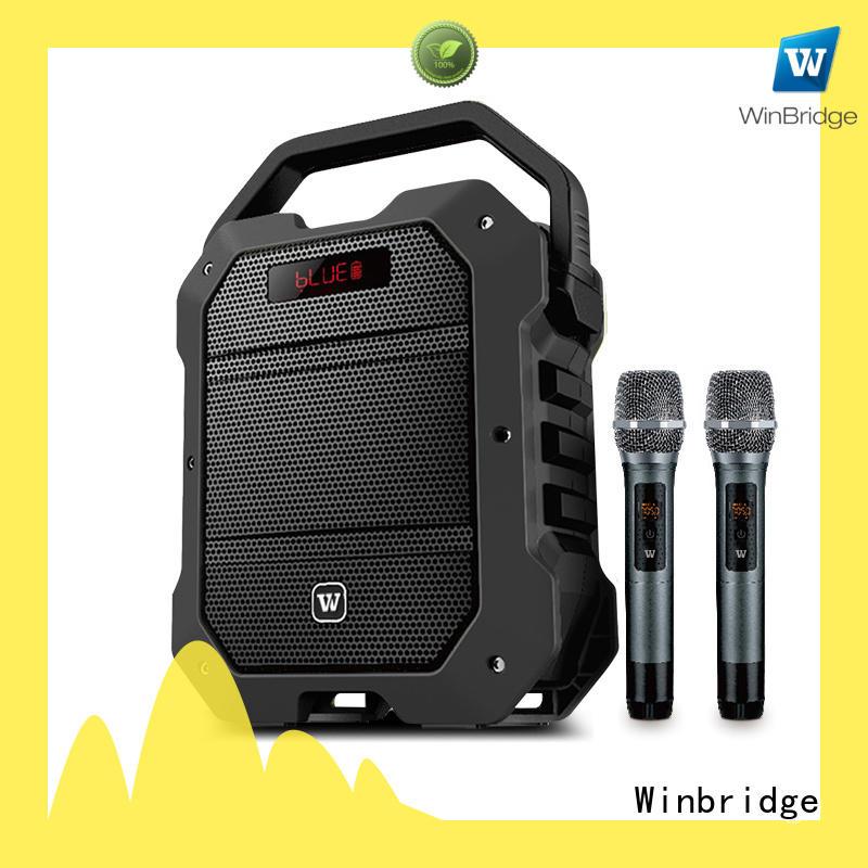Winbridge high quality karaoke microphone and speaker supplier for dance