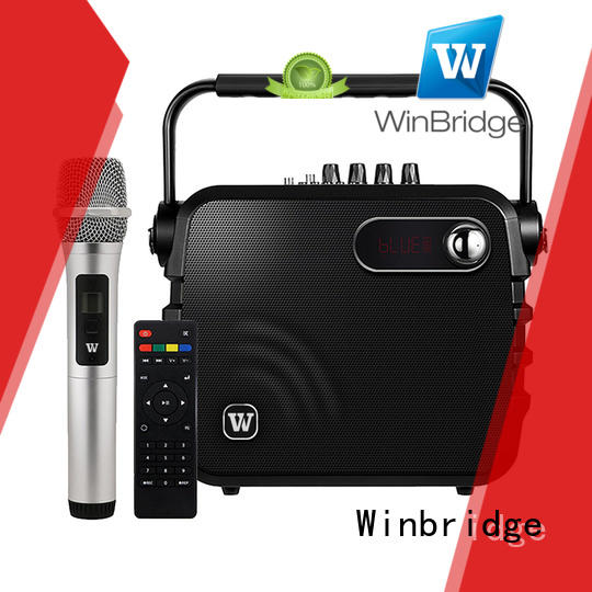 Winbridge karaoke speaker with microphone supplier for party
