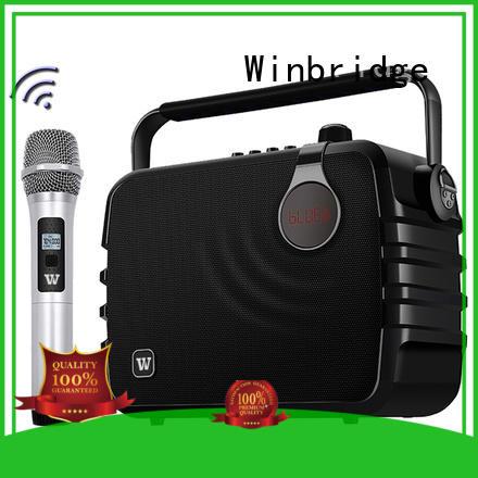 Winbridge Brand ergonomic winbridge wireless karaoke speaker manufacture