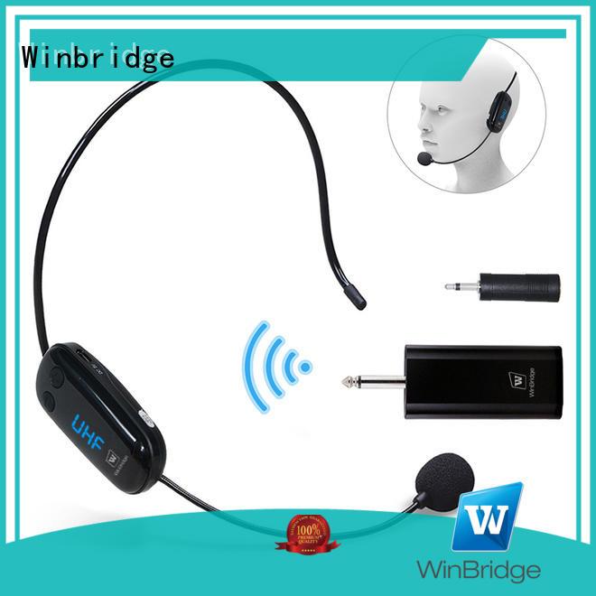 Winbridge wired wireless headset microphone system supplier for speech