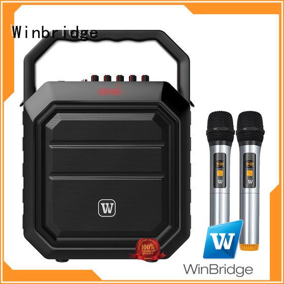 Winbridge wholesale karaoke speaker with microphone company for dance