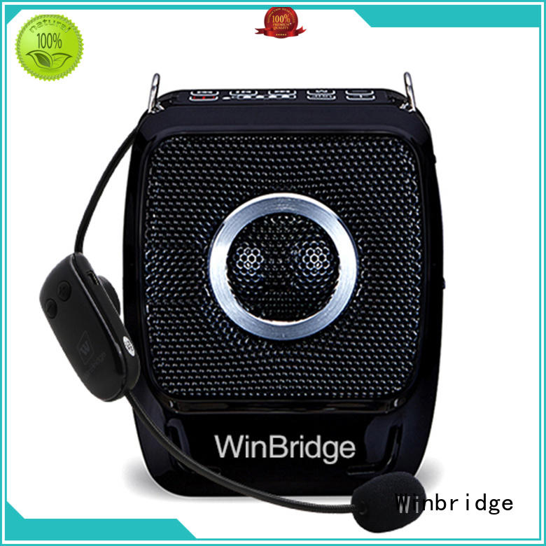 bluetooth portable teacher voice amplifier portable microphone speaker wired Winbridge company