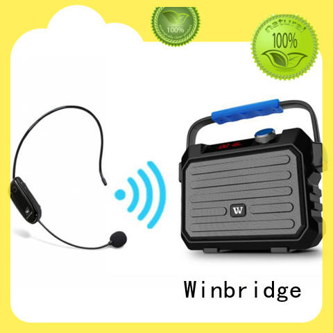 Winbridge multifunction speaker bluetooth karaoke high quality for party
