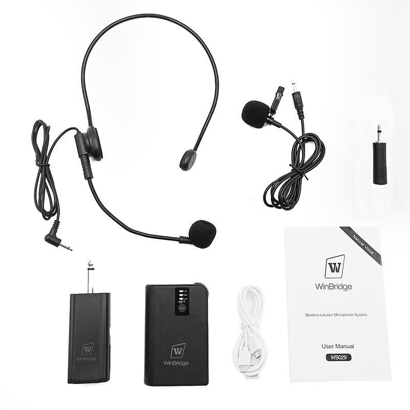 Hot receiver wireless microphone system video recording Winbridge Brand