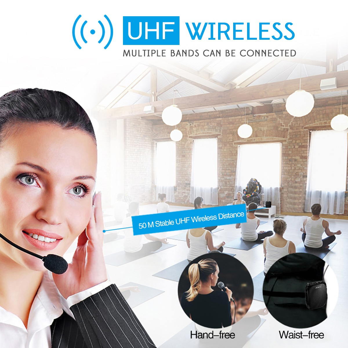 Winbridge portable wireless lapel microphone factory for sale-10