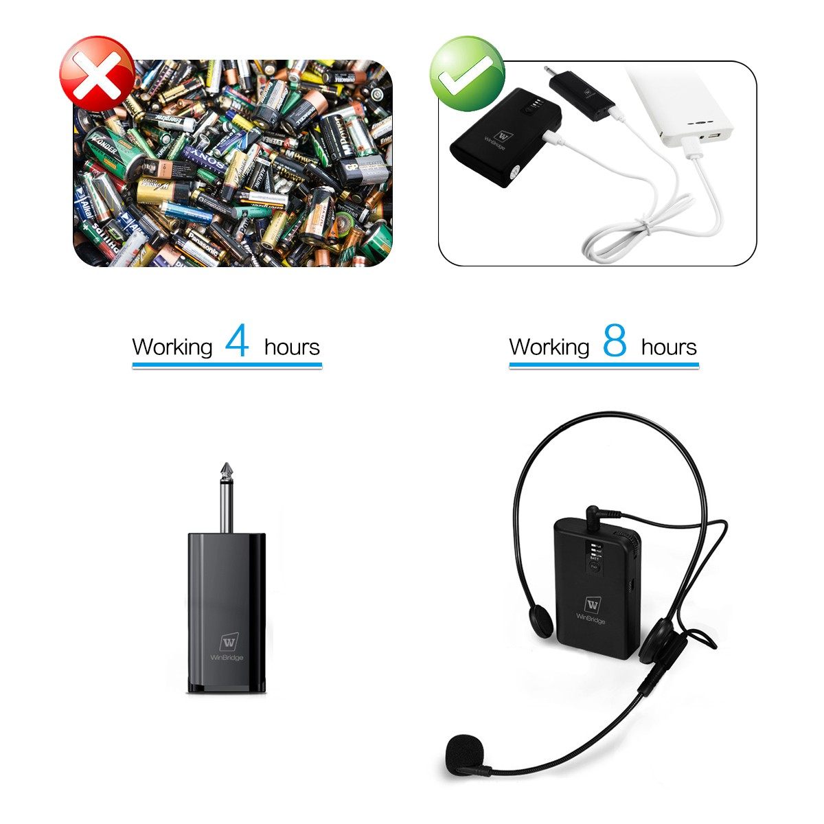 Winbridge portable wireless lapel microphone factory for sale-11