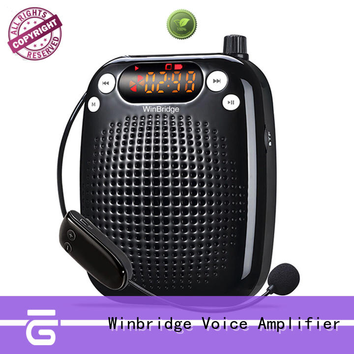 WinBridge 10 Watts UHF Wireless Voice Amplifier WB611 Portable Loudspeaker with Microphone
