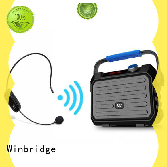 Winbridge voice karaoke microphone and speaker high quality for party