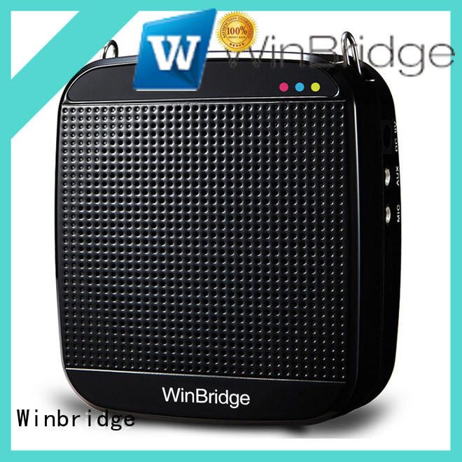 Winbridge high quality personal voice amplifier with wireless microphone for speech