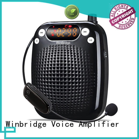 wired winbridge voice amplifier with wireless microphone for teacher