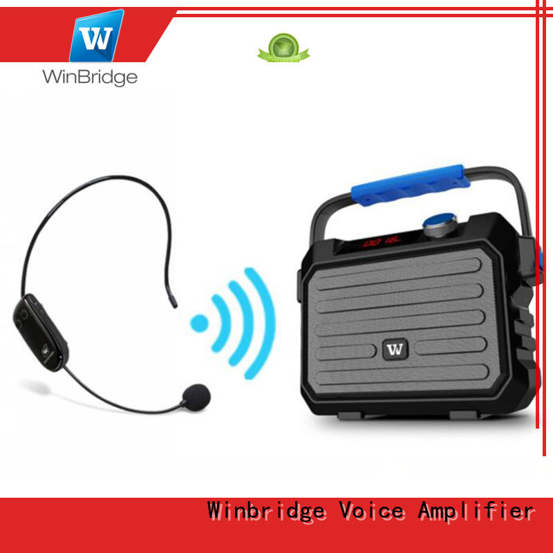 Winbridge karaoke microphone and speaker supplier for street performance