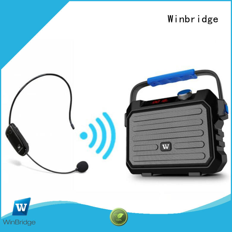 wireless microphone bluetooth speaker karaoke Winbridge manufacture