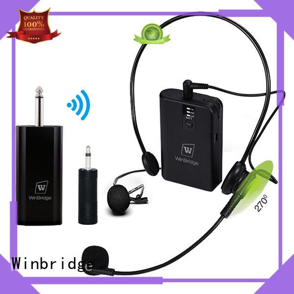 Hot mic wireless lapel Winbridge Brand