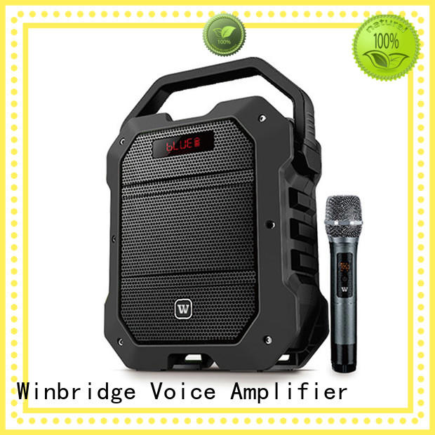 comfortable remote control Winbridge Brand karaoke speaker