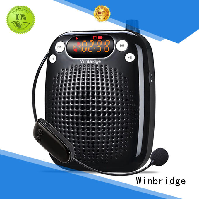 WinBridge 10 Watts UHF Wireless Voice Amplifier WB611 Portable Loudspeaker with Microphone