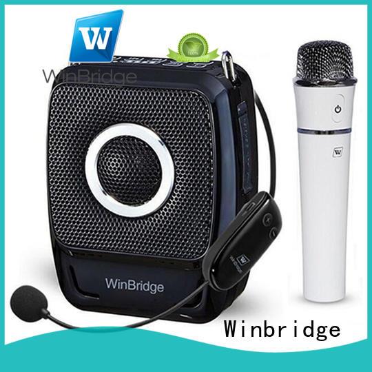 Hot teacher voice amplifier portable microphone speaker rechargeable Winbridge Brand