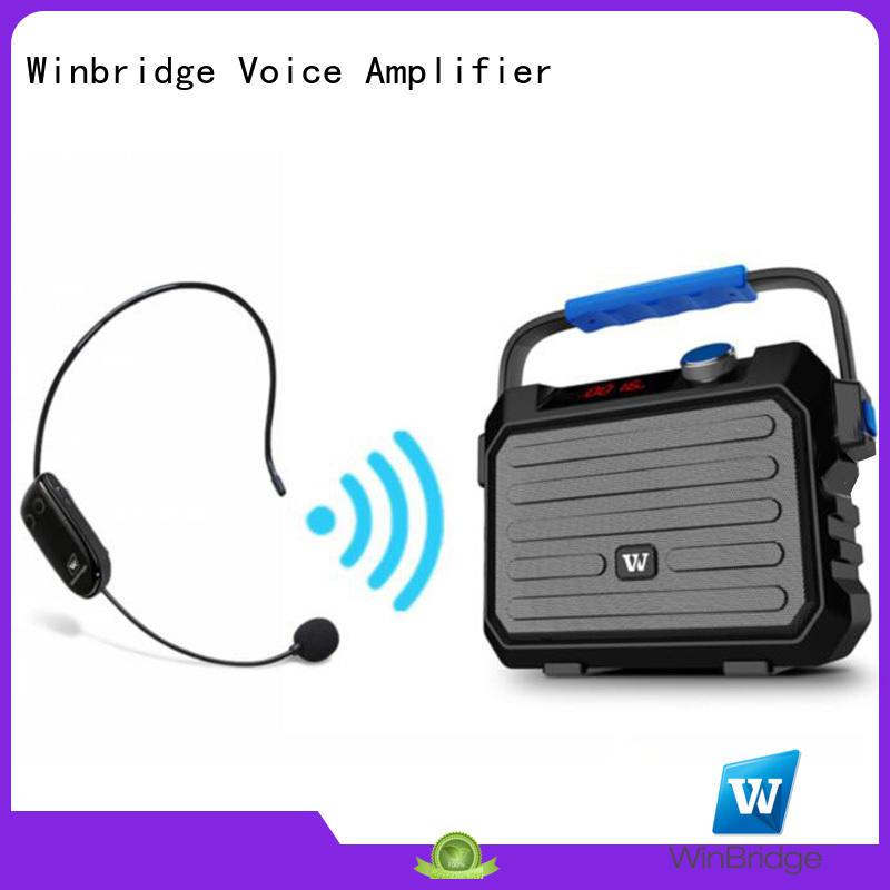 Winbridge amplifier speaker karaoke with dual microphone for street performance
