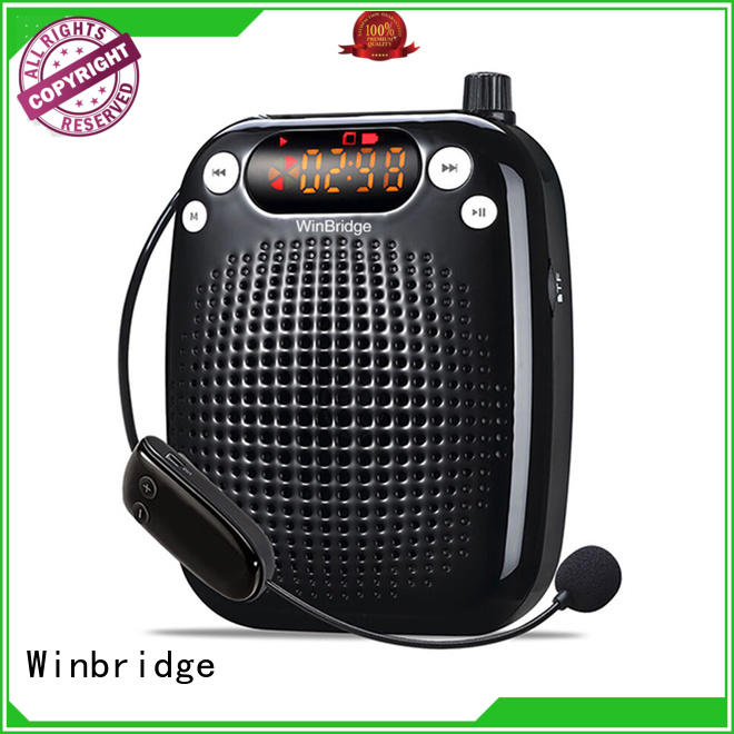 wireless portable teacher voice amplifier portable microphone speaker Winbridge Brand