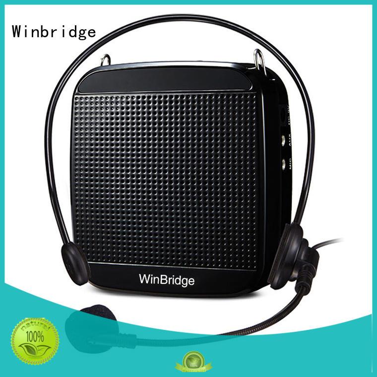 Winbridge custom best portable voice amplifier for teachers supplier for speech