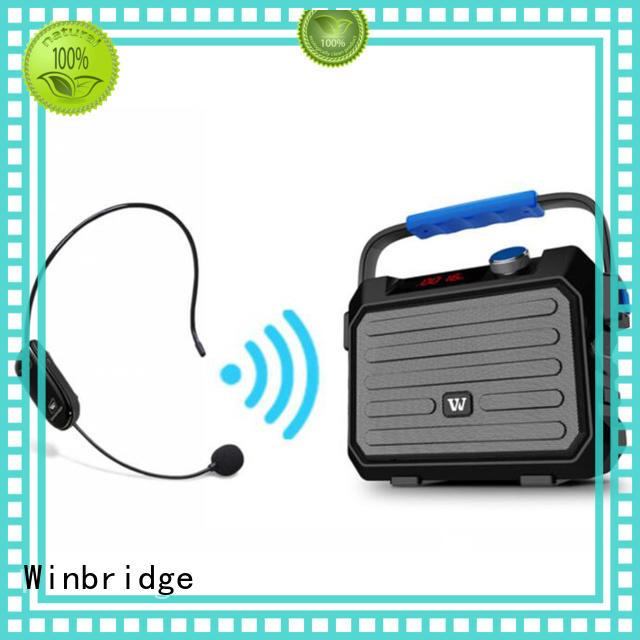 loudspeaker karaoke speaker microphone with dual microphone for street performance