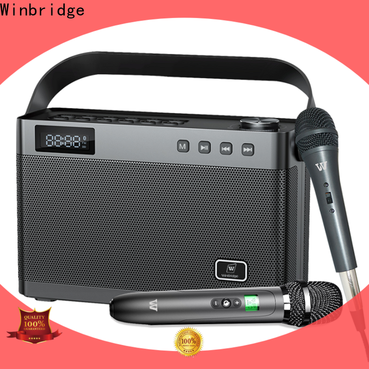 Winbridge multifunction karaoke speaker with microphone company for street performance