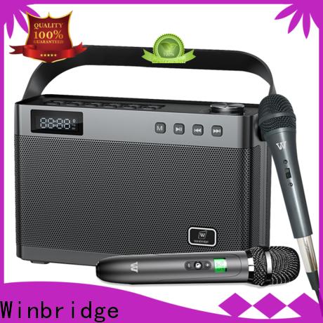 Winbridge karaoke microphone and speaker with dual microphone for sale
