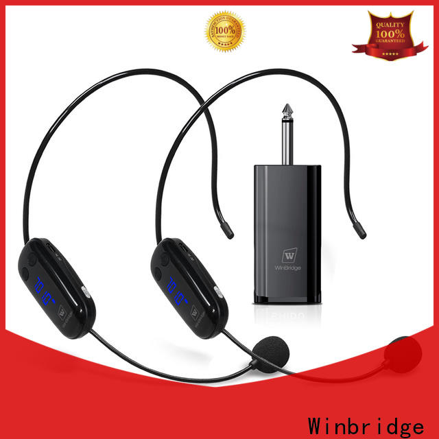 Winbridge wireless microphone system with receiver microphone system for party