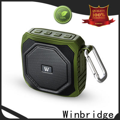 Winbridge small bluetooth speakers with touch panel for outdoor hiking