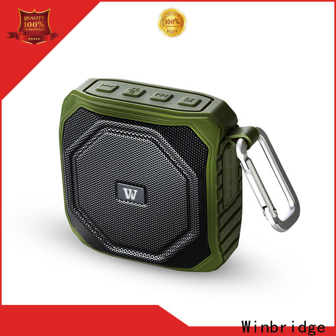 Winbridge best sounding bluetooth speaker with touch panel for outdoor hiking