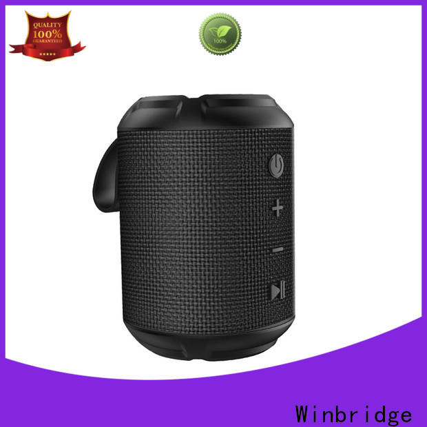 Winbridge pocket small bluetooth speakers with touch panel for cafe