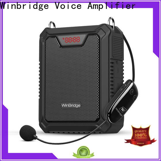 Winbridge personal voice amplifier with wireless microphone for teacher