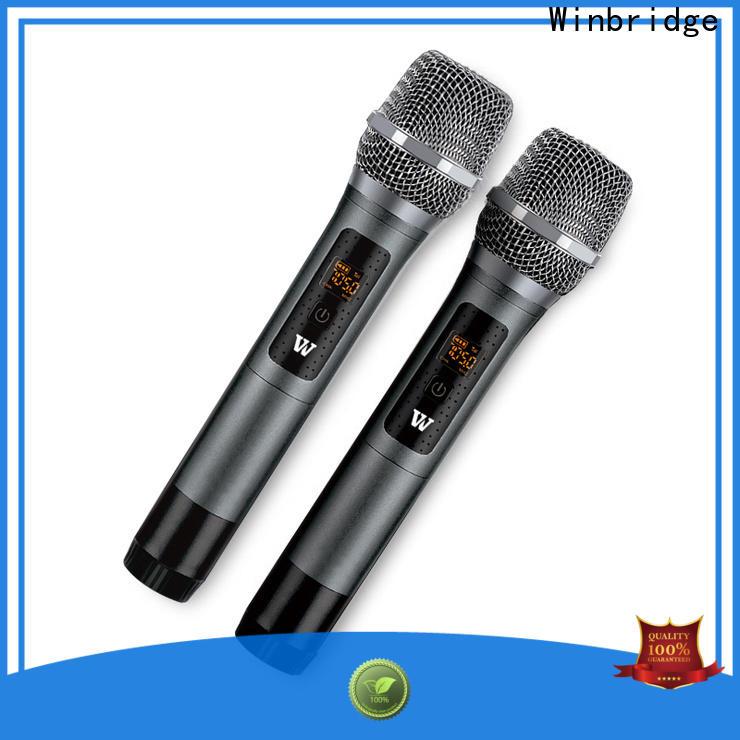 Winbridge top wireless lapel microphone for busniess for karaoke