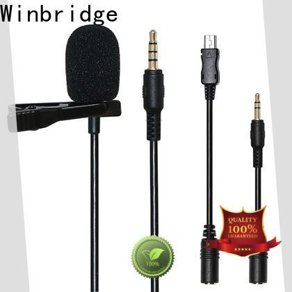 Winbridge wireless lapel microphone company for speech