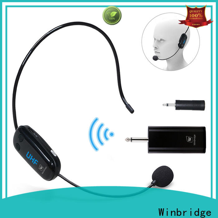 Winbridge wireless lapel microphone with receiver microphone system for speech