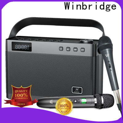 Winbridge karaoke mic with speaker supplier for street performance